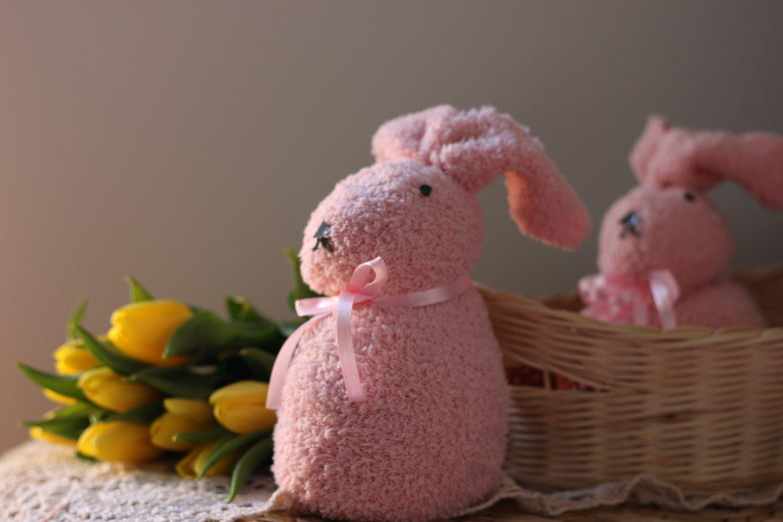 Velikonočni zajček iz nogavice